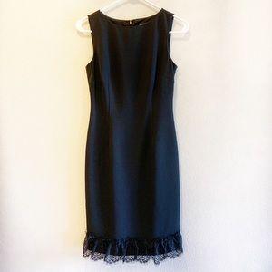 Karl Lagerfeld black sheath dress with lace bottom